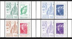 """VA209L-PT1/4 : 2012 - Série 4 Marianne sur porte-timbres """"Vol 209 Ariane - GSAT-10 (Inde)"""""""