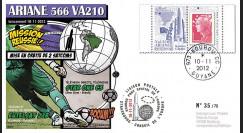 VA210L-T1 : 2012 - FDC Kourou ARIANE 5 Vol 210 - Star One C3 et Eutelsat 21B (Brésil)