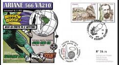 VA210L-T2 : 2012 - FDC Kourou ARIANE 5 Vol 210 - Star One C3 et Eutelsat 21B (Brésil)