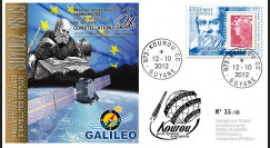 "VS03L : 2012 - FDC Kourou ""SOYOUZ Vol N°03 - 2 satellites IOV de la constellation Galileo"""
