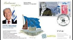 PE635 : 2013 - FDC Parlement européen Shimon Peres