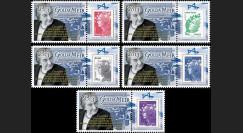 """PE635-PT1-5 : 2011 - 5 porte-timbre Parlement européen """" 1973-2013 Golda Meir """""""