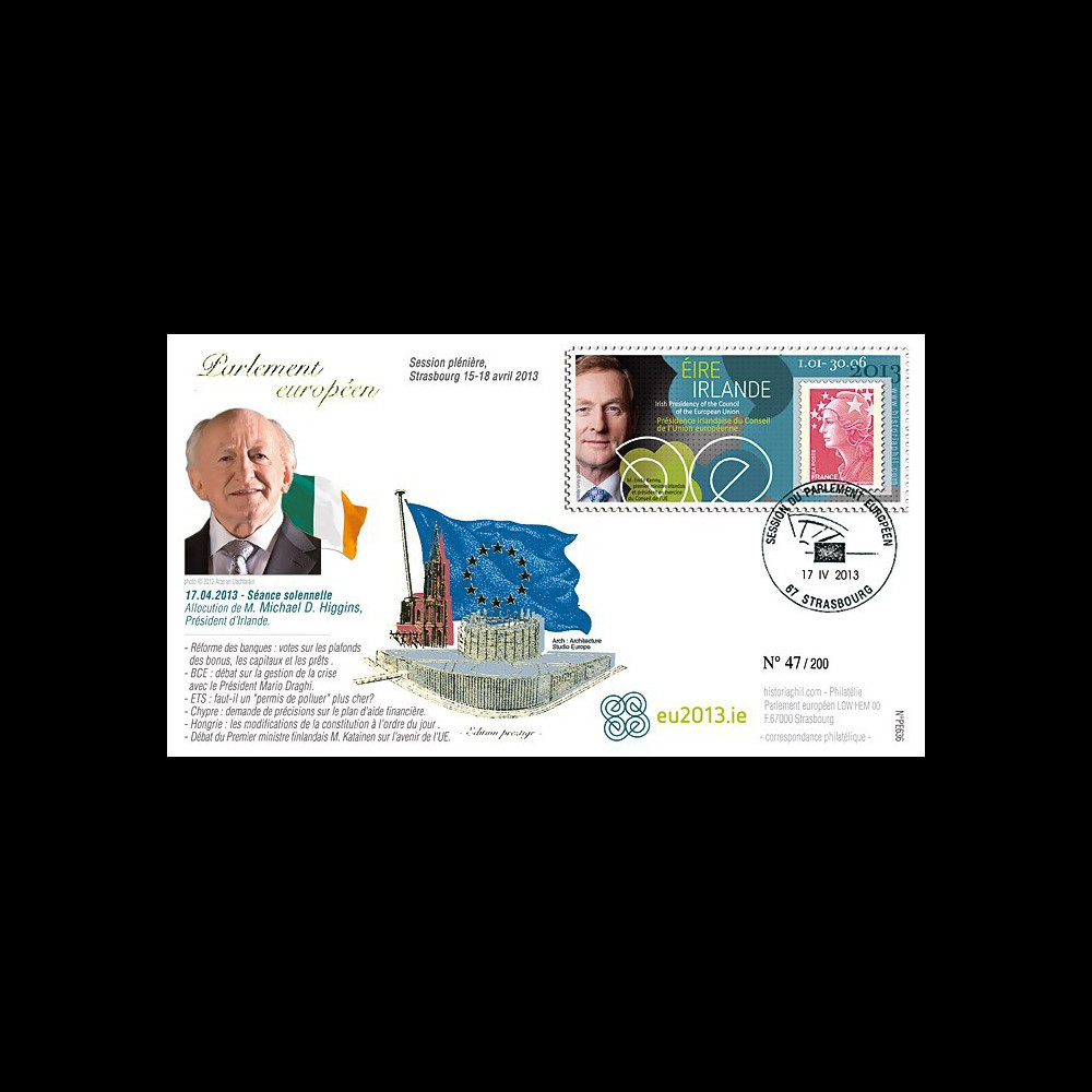PE636 : 2013 - FDC Parlement européen M. Higgins