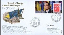 "CE64-IIC : 2013 - FDC Conseil de l'Europe ""Visite de M. Victor PONTA"