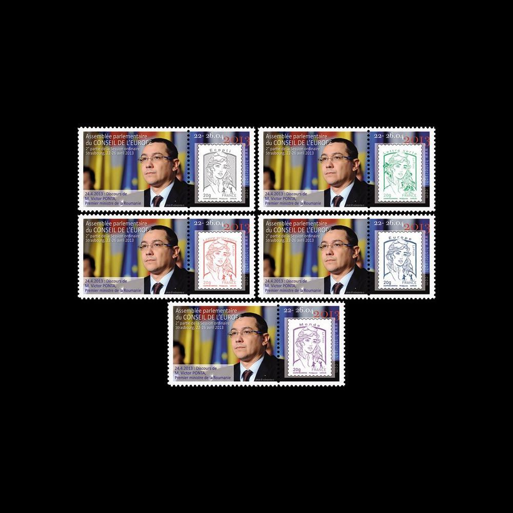 "CE64-IICPT1/5 : 2013 - Série 5 Marianne ""Conseil de l'Europe - M. PONTA"