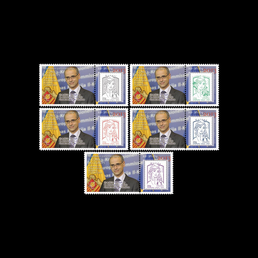 "CE64-IIDPT1/5 : 2013 - Série 5 Marianne ""Conseil de l'Europe - M. MARTÍ"