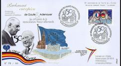 """PE637 : 2013 - FDC Parlement européen """"Expo DE GAULLE & ADENAUER - Traité Elysée"""""""