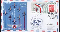 """PAF13-6 : 2013 - FDC """"60 ans Patrouille de France - Muret / Avions ALPHAJET & MYSTERE IV"""""""