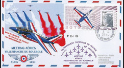 "PAF13-5 : 2013 - FDC ""60 ans Patrouille France - Villefranche-Rouergue / FOUGA MAGISTER"""