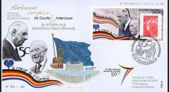 """PE643 : 2013 - FDC Parlement européen """"DE GAULLE & ADENAUER - 50 ans Traité Elysée"""""""
