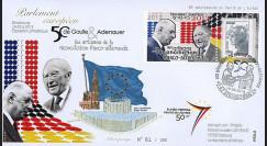"""PE644 : 2013 - FDC Parlement européen """"DE GAULLE & ADENAUER - 50 ans Traité Elysée"""""""