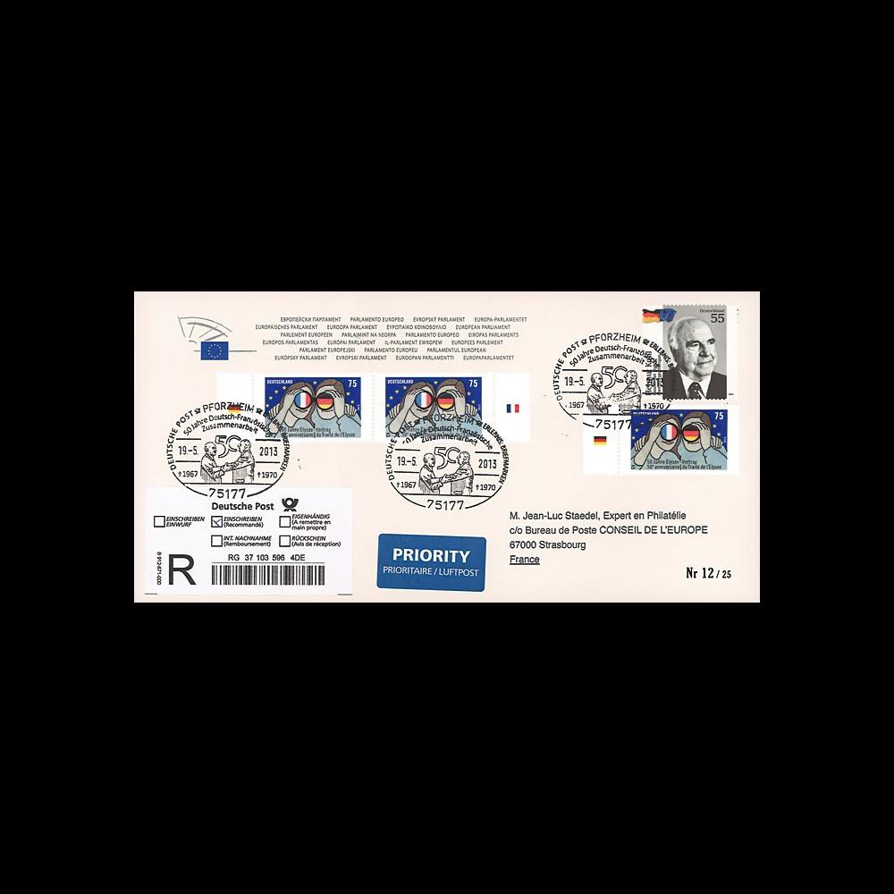 """PE638a : 2013 - Env. reco Allemagne Parlement eur. """"de Gaulle & Adenauer - Traité Elysée"""""""
