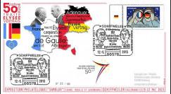 "PE647T1 : 2013 - Allemagne FDC Schiffweiler ""Expo SAMOLUX / de Gaulle & Adenauer"""