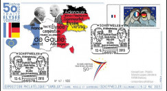 "PE647T2 : 2013 - Allemagne FDC Schiffweiler ""Expo SAMOLUX / de Gaulle & Adenauer"""