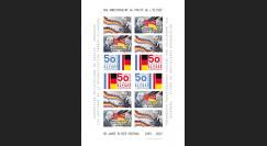 """PE648FND : 2013 - Feuillet non-dentelé """"50 ans Traité de l'Elysée / de Gaulle & Adenauer"""""""