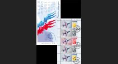 """PAF13-C1 : 2013 - Carnet Porte-timbres """"60 ans Patrouille de France / Avion ALPHAJET"""""""