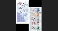 """PAF13-C2 : 2013 - Carnet Porte-timbres """"60 ans Patrouille de France / Avions de la PAF"""""""