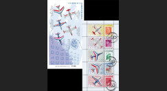 """PAF13-C3 : 2013 - Carnet Porte-timbres """"60 ans Patrouille de France / Avions de la PAF"""""""