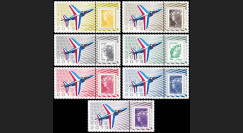 """PAF13-ALPHA-PT1/7 : 2013 - 7 porte-timbres """"60 ans Patrouille de France - ALPHAJET"""""""