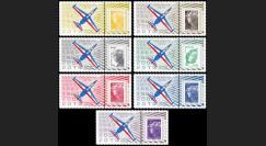 "PAF13-FOUGA-PT1/7 : 2013 - 7 porte-timbres ""60 ans Patrouille de France - Fouga Magister"""