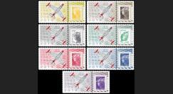 "PAF13-OURAGAN-PT1/7 : 2013 - 7 porte-timbres ""60 ans Patrouille de France - OURAGAN"""