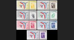"PAF13-MYST-PT1/7 : 2013 - 7 porte-timbres ""60 ans Patrouille de France - MYSTERE IV"""