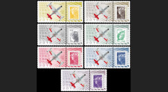 """PAF13-REP-PT1/7 : 2013 - 7 porte-timbres """"60 ans Patrouille de France - REPUBLIC F-84G"""""""