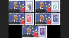 """PE625-PT1/5 : 2013 - 5 porte-timbre Parlement européen """"M. Martelly"""