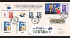 "PE625a : 2012 - Env. RECOMMANDEE Parlement européen ""M. MARTELLY"