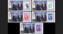 """PE627-PT1/5 : 2013 - 5 porte-timbre Parlement européen """"M. Christofias"""