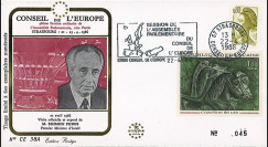 "CE38A : 1986 - FDC Session Conseil de l'Europe ""Shimon Peres"