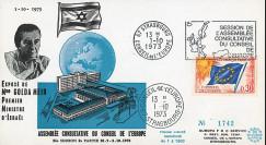 "CE25-IIA-T1 : 1973 - FDC Conseil de l'Europe ""Discours de Golda Meir"
