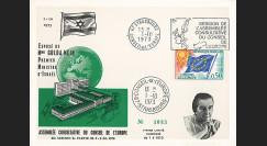 CE25-IIA-T2 : 1973 - Carte Conseil de l'Europe Discours de Golda Meir
