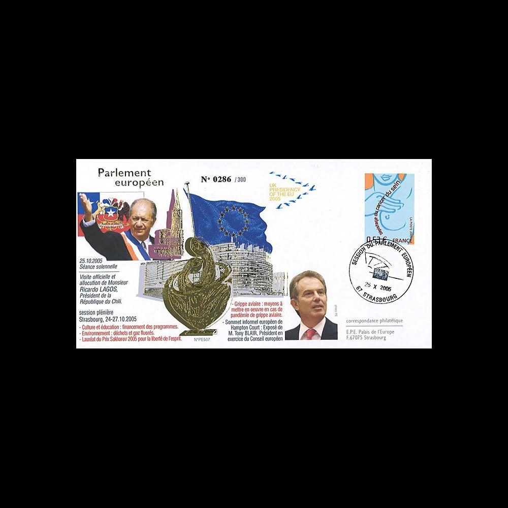 PE507 : 2005 - Visite et discours du Pdt chilien et de M. Tony Blair