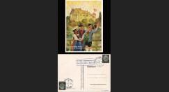 "W2-AL0909 : 1938 - CP Propagande ""Congrès de Nuremberg - Allemands de toutes régions à Nurmeberg"""