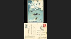 """W2-IT0033 : 1939 - CP ITALIE Propagande """"Ecole d'Observation Aérienne de Cerveteri"""""""