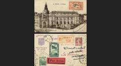 "AV-0101 : 1930 - Entier Postal RECO ""PAR AVION à destination de Casablanca"