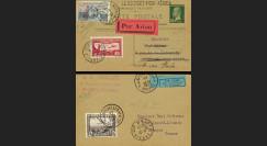 """AV-0102 : 1930 - Entier Postal PAR AVION """"Double Vol Le Bourget - Bruxelles - Limoges"""""""