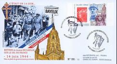 """DG13-1T1 : 2013 - FDC """"69 ans Retour du Général DE GAULLE - Discours de Bayeux"""""""