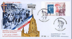 """DG13-1T2 : 2013 - FDC """"69 ans Retour Général DE GAULLE - Discours de Bayeux / WWII"""""""