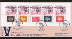 """DG13-3T1 : 2013 - Maxi FDC """"69 ans Retour DE GAULLE sur le sol de France / WWII"""""""
