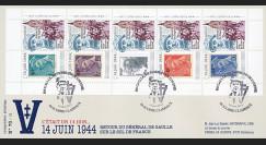 """DG13-3T2 : 2013 - Maxi FDC """"69 ans Retour DE GAULLE - Discours de Bayeux / WWII"""""""