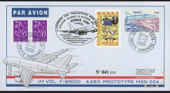 """A380-12T1 : 2005 - Pli France """"1er vol du prototype MSN 004 de l'A380"""" - TP Aéronautique"""