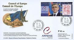 "CE64-IVA : 10-2013 - FDC Conseil Europe ""Visite M. SARKISSIAN"