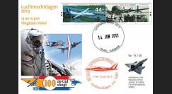 """PAF13-8T1 : 2013 - FDC PAYS-BAS """"60 ans Patrouille de France / ALPHAJET & MIRAGE"""""""