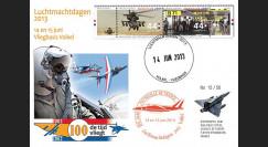"""PAF13-8T2 : 2013 - FDC PAYS-BAS """"60 ans Patrouille de France / ALPHAJET & MIRAGE 2000"""""""