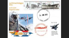 """PAF13-8T3 : 2013 - FDC PAYS-BAS """"60 ans Patrouille de France / ALPHAJET & MIRAGE 2000"""""""