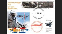 """PAF13-8T4 : 2013 - FDC PAYS-BAS """"60 ans Patrouille de France / ALPHAJET & MIRAGE 2000"""""""