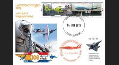 """PAF13-8T5 : 2013 - FDC PAYS-BAS """"60 ans Patrouille de France / ALPHAJET & MIRAGE 2000"""""""