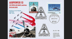 """PAF13-9 : 2013 - FDC AUTRICHE """"AIRPOWER - 60 ans Patrouille de France / ALPHAJET"""""""